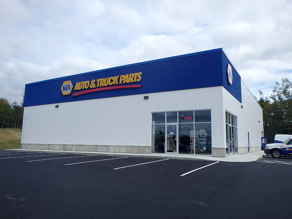 The Machias NAPA Auto Parts building